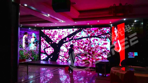 Hebei Baoding hotel indoor full-color P3 rental mode complete