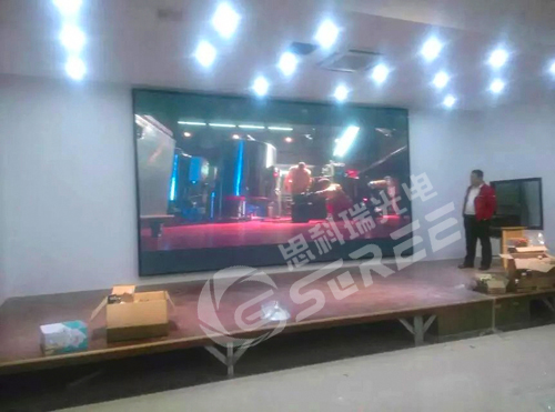 Sichuan Puguang Gas Field Management Center indoor full color P5 display installation complete